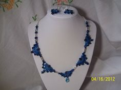 Fans are Fancy Necklace and Earring Matching Set by gartenglitz, $24.00