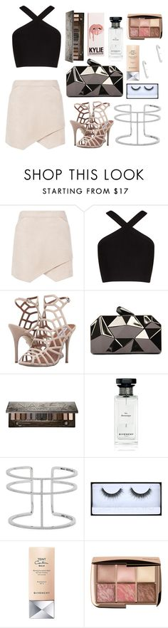 """""""no more parties in l.a."""" by indigowaves ❤ liked on Polyvore featuring BCBGMAXAZRIA, Steve Madden, WithChic, Urban Decay, Givenchy, APM Monaco and Huda Beauty"""