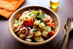 The Tuscan bread salad called panzanella is the perfect place to use those sad, soft tomatoes that are still rich in flavor. (Photo: Andrew Scrivani for The New York Times)
