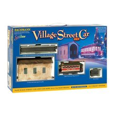 Bachmann Trains Christmas Village Streetcar – Scale Ready To Run Electric Train Set - Model Trains Hobby Shops Near Me, Electric Train Sets, Car Barn, Hobby Trains, Starter Set, Model Train Layouts, Car Set, Models, Model Trains