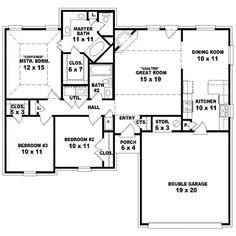 40-plantas de casas 3 quartos modelos