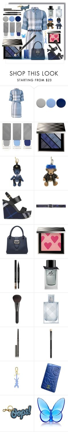 """Blue Jeans"" by ellenfischerbeauty ❤ liked on Polyvore featuring Burberry, Chanel, Anya Hindmarch and Baccarat"