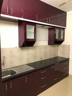 Affordable House Interior Designer: Kitchen units by HouseDecors. Kitchen Wardrobe Design, Kitchen Cupboard Designs, Kitchen Room Design, Home Room Design, Kitchen Units, Interior Design Kitchen, Moduler Kitchen, Ikea Hacks, Kitchen Modular