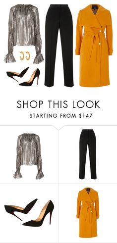 """""""Untitled #7405"""" by amberelb ❤ liked on Polyvore featuring Hensely, Oscar de la Renta, Christian Louboutin and Jennifer Fisher"""