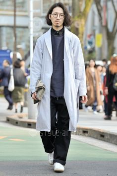 Takaaki Hirota | PORTVEL  LOW LOOM LIMI feu ID DAILYWEAR OLIVER PEOPLES NO BRAND TALKING ABOUT THE ABSTRACTION | 3rd week  Mar. 2016 | Omotesando | Tokyo Street Style | TOKYO STREET FASHION NEWS | style-arena.jp