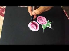 One stroke using oil paint. - YouTube