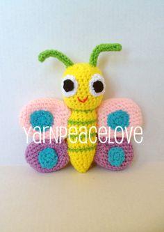 Crochet Butterfly by YarnPeaceLove