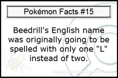 Lots of fun and random Pokémon facts. Pokemon Facts, Cool Pokemon, Fun Facts, Awesome Facts, I Choose You, Pokemon Pictures, Spelling, Evolution, Names