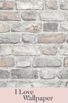 Love the natural look? Add the Battersea Brick Wallpaper in Pastel to your home and carry the theme throughout with uncluttered decor, natural fabrics, and pretty plants for a literal breath of fresh air. Love Wallpaper, Brick Effect Wallpaper, Pattern Wallpaper, Brick Design, Brick Wall, Traditional House, Paper Texture, My Love, Contemporary