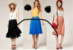 Sarahs Scribbles: An Ode To.... The Midi Skirt