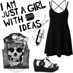 classic misfit by jamkelly on Polyvore featuring polyvore fashion style Vero Moda Iron Fist Essie