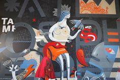 'The Bridge', street art en el puente de la ciudad (Yosfot blog)