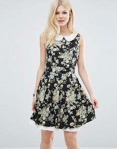 Image 1 of Yumi Collared Dress In Floral Print