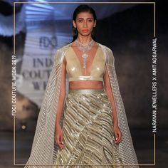 """Narayan Jewellers delightfully launched the new bridal collection in association with ace Designer Amit Aggarwal for """"Lumen"""" Couture 2019 at FDCI. Bridal Collection, Fashion Show, Product Launch, Two Piece Skirt Set, Jewels, Couture, Skirts, Dresses, Design"""