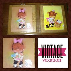These darling vintage wall plaques would be adorable in a toddler girls room.  :)  Presh!  https://www.facebook.com/VintageVexation