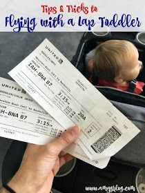 Tips and tricks to flying with a lap toddler! Anything to make sure your flight goes smoothly!