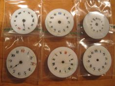 6 Vintage Ladies Pocket Watch Enamel Dials ideal by HandzofTime, £7.50 ......Ideal 4 Steampunkers, Mixed Media, Crafts 1000's items always in stock