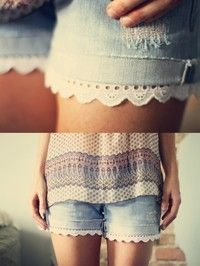 Easy fix for the girls shorts that are a little to short
