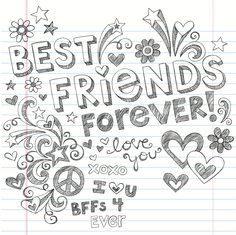 cute bff doodle