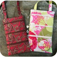 In The Hoop :: 3 Zipper Purse Set - Embroidery Garden In the Hoop Machine Embroidery Designs