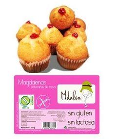 Magdalenas Sin Gluten Fresa Rellenas Mdalen 300gr Relleno, Muffin, Breakfast, Food, Gluten Free Cupcakes, Lactose Free, Strawberry Fruit, Foods, Meal