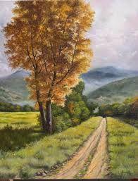 Risultati immagini per dipinti paesaggi di campagna