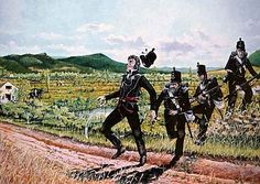 Death of Lieutenant Ralph Bunbury 2nd Bn 95th Rifles at Obidos August 1808. He was the first British officer to be killed in the Peninsular War.
