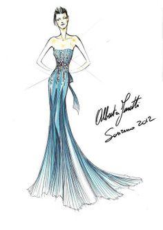 #AlbertaFerretti for #Sanremo 2012..  #Love #sketches!