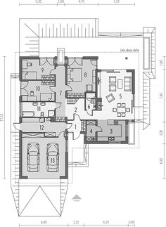 Single storey inspirational small house + plans , Ground-floor basement, with a loft to adapt, with double garage suitable for person family. Zen House, Cottage Style House Plans, Dream House Plans, Modern House Plans, Small House Plans, House Floor Plans, The Plan, How To Plan, Building Design