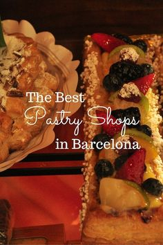 Looking for the best pastry shops in Barcelona? We've made our picks! There are so many delicious pastry shops in Barcelona, it's hard to choose from! Shopping In Barcelona, Barcelona Food, Barcelona Travel, Spanish Desserts, Spanish Cuisine, Spanish Food, Real Madrid, Delicious Desserts, Yummy Food