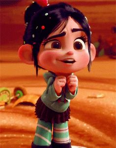 Vanellope GIF. Can't tell what she's sayin' here 'cause there's no caption, but she's too cute not to pin!