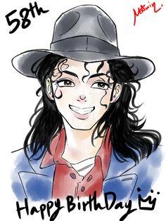 HBD - Michael Jackson by on DeviantArt Michael Jackson Dibujo, Michael Jackson Cartoon, Michael Jackson Drawings, Michael Jackson Wallpaper, Michael Jackson Art, Singer, Fan Art, Portrait, Apple Head