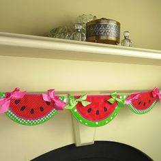 Watermelon Banner ITH Project Applique by BigDreamsEmbroidery