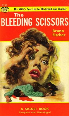 """The Bleeding Scissors"" - Cover Art by Robert Maguire 