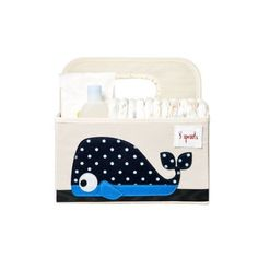 Fabric Storage Bins, Fabric Bins, Storage Baskets, Fabric Basket, 3 Sprouts, Baby Nursery Organization, Diaper Caddy, Baby Accessoires, Whale Nursery