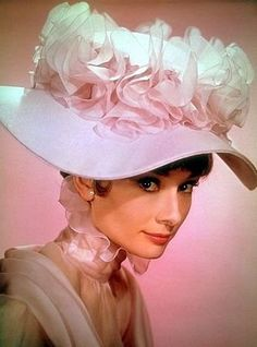 Audrey Hepburn in My Fair Lady, 1964.  Oh the hats...the lovely hats.