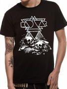 Officially Licensed Import Kadavar T-shirt design printed on a black 100% cotton short sleeved T-shirt.