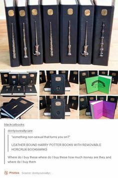 Harry Potter leatherbound books... amazing found on etsy peskycatpapercrafts