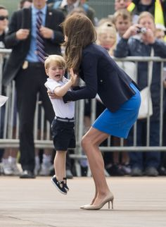 Prince George Is the Cutest Guy on the Airfield