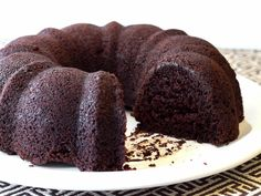 An easy recipe for a moist and rich gluten-free chocolate bundt cake.