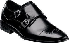 Stacy Adams Boys' Trevor 43360 Black Man-Made Size 11.5 M, Boy's