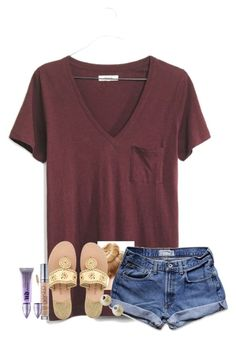 """""""I'm waiting in line for rock'n roller coasters rn lol"""" by fashionpassion2002 ❤ liked on Polyvore featuring Madewell, Abercrombie & Fitch, Jack Rogers, Urban Decay, Carolee and reasover100"""