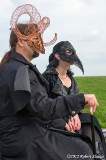Another Bob Slassor photo of us at Whitby Goth Weekend :)