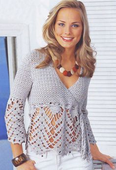 MADE TO ORDER - a crochet spring/summer/fall top/cardigan/jacket on Etsy, $105.00