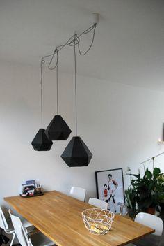 Lampe suspendue en fil de fer sous forme de diamant g om trique lampes suspen - Lampe suspendue ikea ...