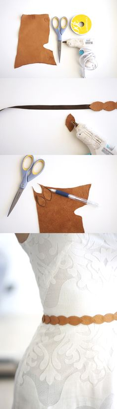 DIY Fashion Ideas – What you Need to be Creative – Designer Fashion Tips Diy Leather Belt, Leather Jewelry, Handmade Leather, Vintage Leather, Leather Diy Crafts, Leather Projects, Leather Crafting, Diy Accessories, Leather Accessories