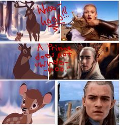 "A prince does not ""Whoo-hoo"" Legolas/Bambi crossover"