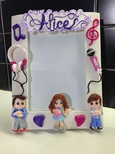 Violetta frame - fimo decorated