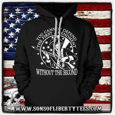 You can not defend the first amendment. Without the Second.  T-Shirt  #2Ndamendment #Defendthesecond #Donttreadonme #Firearms #Igmilitia #Liberallogic #Libtards #Nra #Righttobeararms #Sonsoflibertytees #Wethepeople
