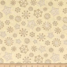 Reason For The Season Packed Snowflakes Tan from @fabricdotcom  Designed by Jennifer Pugh for Wilmington Prints, this cotton print is perfect for quilting, apparel, and home decor accents. Colors include beige, cream and tan.